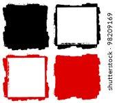 vector grunge frame and... | Shutterstock .eps vector #98209169