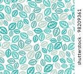 seamless leaf pattern. | Shutterstock .eps vector #98209361
