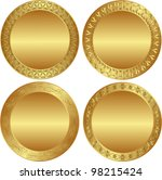 round golden background | Shutterstock .eps vector #98215424