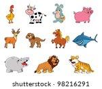 cartoon vector illustration of... | Shutterstock .eps vector #98216291