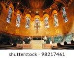 Boston Trinity Church Interior...