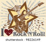 i love rock 'n' roll. poster | Shutterstock .eps vector #98226149