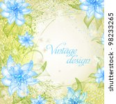 wedding card or invitation with ... | Shutterstock .eps vector #98233265