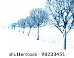 winter alley in a day. abstract ... | Shutterstock . vector #98233451