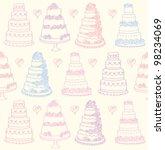 sketchy celebration cakes... | Shutterstock .eps vector #98234069