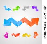 3d arrows set   Shutterstock .eps vector #98250404