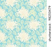 seamless vector chrysanthemum... | Shutterstock .eps vector #98253479