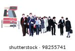 commuting to work illustration | Shutterstock .eps vector #98255741