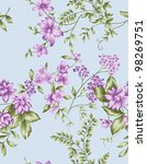 seamless floral background. for ...   Shutterstock . vector #98269751