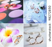 jewelry set on the white... | Shutterstock . vector #98272850