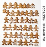 many fun gingerbread men | Shutterstock . vector #98275205