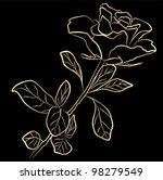 golden rose   freehand on a... | Shutterstock .eps vector #98279549