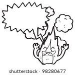 cartoon fire character | Shutterstock . vector #98280677