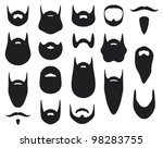 set of beard silhouettes | Shutterstock .eps vector #98283755