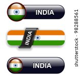 india flag banners  icons theme. | Shutterstock .eps vector #98288561