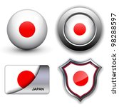 Japan Flag Icons Theme.