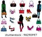 spring fashion | Shutterstock .eps vector #98290997