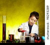 little funny chemist | Shutterstock . vector #98293289