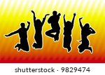happy young group of people | Shutterstock .eps vector #9829474
