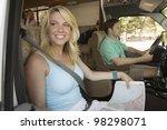 family road trip in rv   Shutterstock . vector #98298071