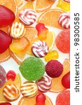 colorful jelly candies... | Shutterstock . vector #98300585