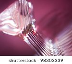 wine glasses in row. red... | Shutterstock . vector #98303339