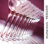 wine glasses in row. red... | Shutterstock . vector #98303345