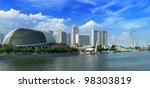 Singapore Skyline Panorama At...