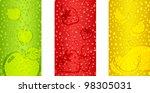 fresh juicy fruits background... | Shutterstock .eps vector #98305031