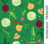 vegetable seamless  pattern | Shutterstock .eps vector #98306105