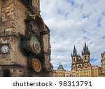 Astronomical Clock And The Tyn...