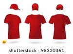 blank uniform template set  t... | Shutterstock .eps vector #98320361