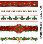 set of christmas borders | Shutterstock . vector #98322725