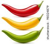 hot chilli pepper vector set... | Shutterstock .eps vector #98324879