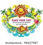 colorful summer frame series | Shutterstock .eps vector #98327987