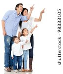 family pointing with finger  ... | Shutterstock . vector #98333105