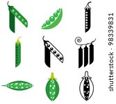 peas icons vector set | Shutterstock .eps vector #98339831