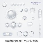 controls web elements   buttons ... | Shutterstock .eps vector #98347505