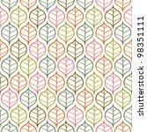 vector leaf pattern | Shutterstock .eps vector #98351111
