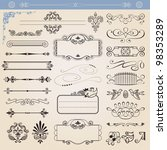 vector calligraphic decoration... | Shutterstock .eps vector #98353289
