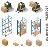 vector isometric warehouse... | Shutterstock .eps vector #98359019