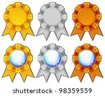 golden  silver and bronze blank ... | Shutterstock . vector #98359559
