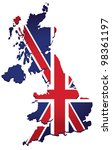 map of uk with the image of the ... | Shutterstock .eps vector #98361197