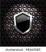 vector black glossy metal... | Shutterstock .eps vector #98363585