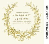 vector gold wreath background.... | Shutterstock .eps vector #98364485