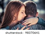love and affection between a... | Shutterstock . vector #98370641