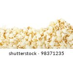 Popcorn Border Isolated On...
