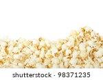 Popcorn Border Isolated On...