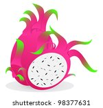 dragon fruit  edible fruits ... | Shutterstock .eps vector #98377631