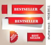 bestseller. red banners and... | Shutterstock .eps vector #98383811